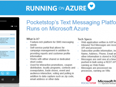 Pocketstop's Text Message Marketing Platform Runs on Microsoft Azure